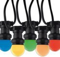 Calex prikkabel 10 meter met 10 gekleurde ledlampen IP44 240v_