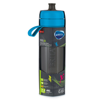 waterfilterfles fill&go Active blauw