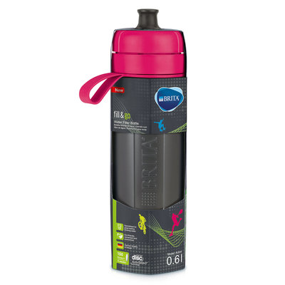 waterfilterfles fill&go Active roze