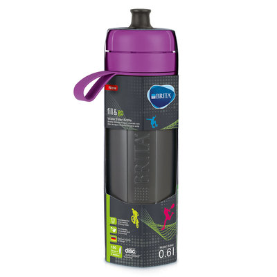 waterfilterfles fill&go Active paars