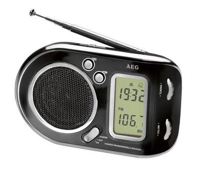 AEG wereldontvanger ,draagbare radio ,WE 4125 zwart