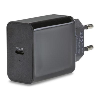 thuislader smart 1xUSB-C snel 3.0A zwart