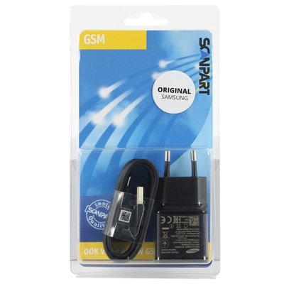 Samsung snellader USB-C 2000mA zwart (orig.)