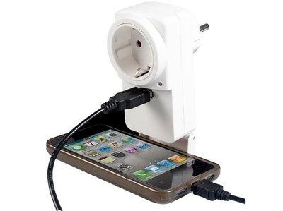 Stekker Doorvoerstekker met USB