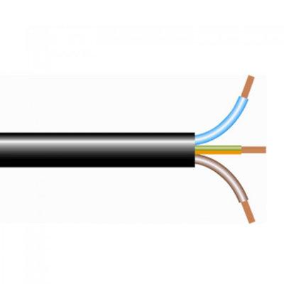 Aansluitkabel 3 x 1,5 - VMVL zwart