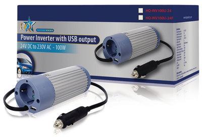 Omvormer 24 - 230 V 100 W met USB