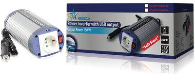 Omvormer 24 - 230 V 150 W met USB