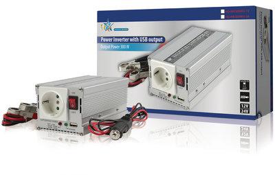 Omvormer 12 - 230 V 300 W schuko en USB