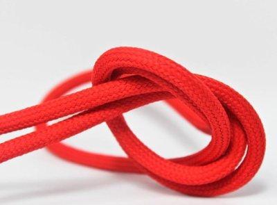Strijkijzersnoer, Omvlochten Stof 2X0.75Mm Fiery Red L=3meter