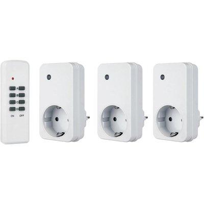 FLAMINGO 3 plug-inschakelaars met afstandsbediening