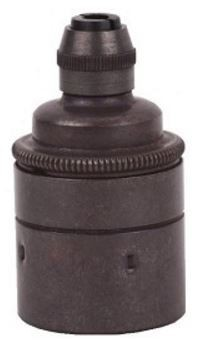 Lamphouder Stoere Fitting E27 Glad Met Vaste Trekontlasting Brons Donker 7600EZ