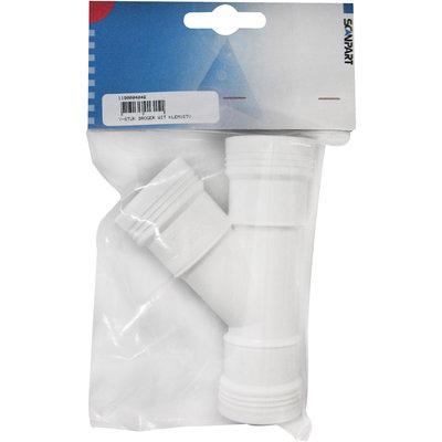 PVC y-stuk verbindingsset condensdroger