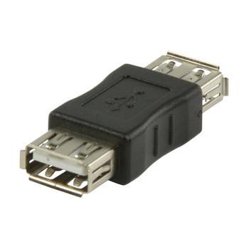 USB 2.0 USB A vrouwelijk - USB A vrouwelijk adapter zwart