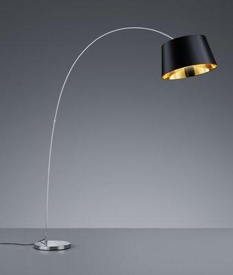 TRIO Vloerlamp LINZ 41 cm 200 cm Zwart Chroom