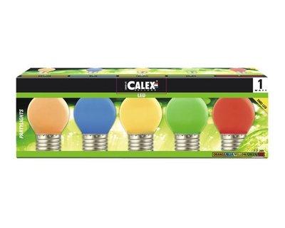 Calex LED Kleurlamp Party Pakket 240V 1W E27