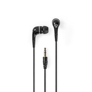 Bedrade Hoofdtelefoon   1,2 m Ronde Kabel   In-Ear   Zwart