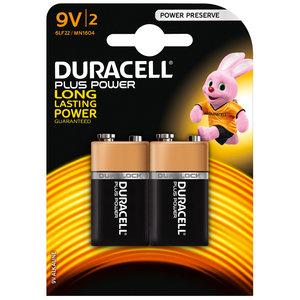 batterij alkaline plus power 9V 2st.